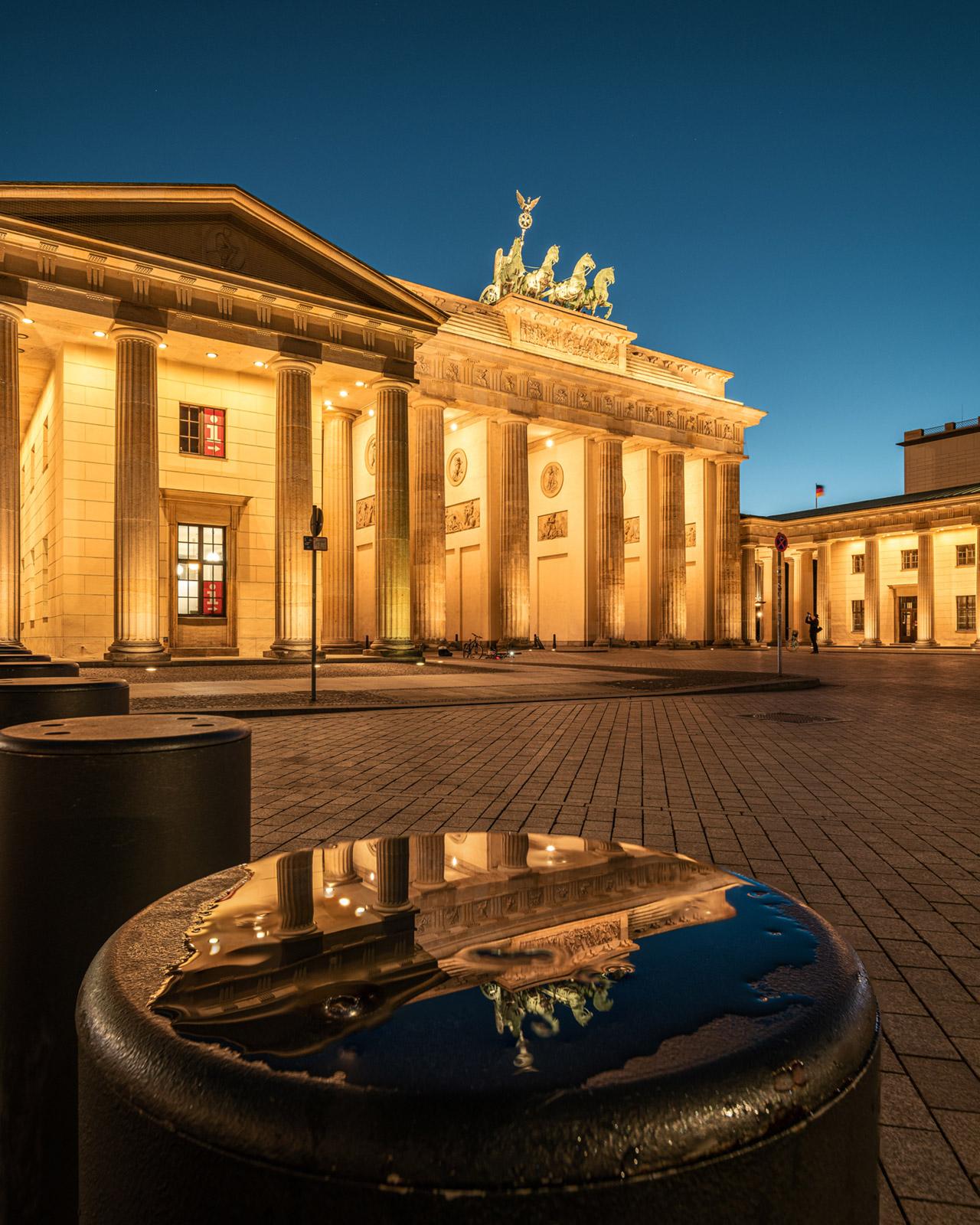 Brandenburger Tor Spiegelung in Berlin - Stefan Schäfer Landschaftsfotograf