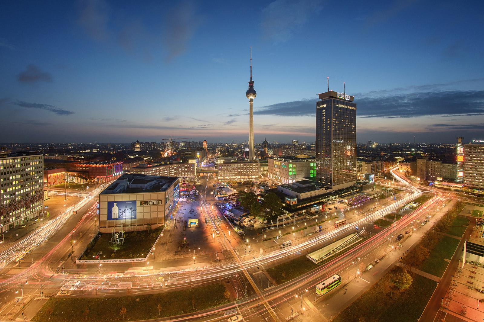 Alexanderplatz von Oben in Berlin - Stefan Schäfer Landschaftsfotograf
