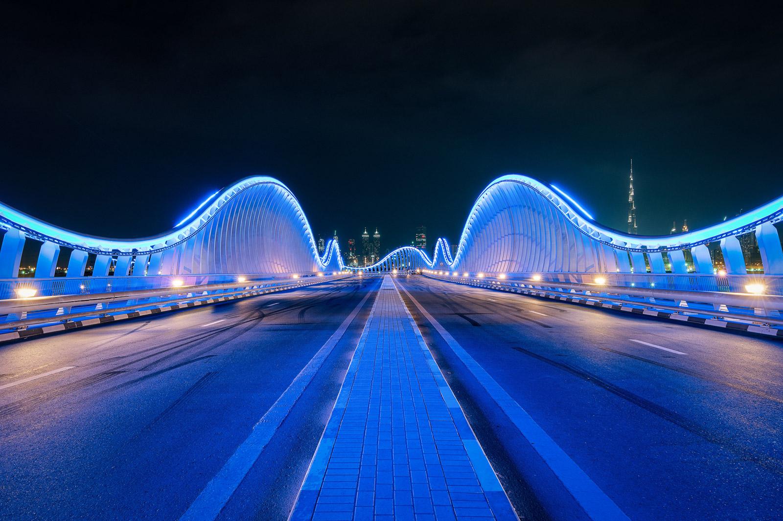 Dubai blaue Brücke - Stefan Schäfer Landschaftsfotograf