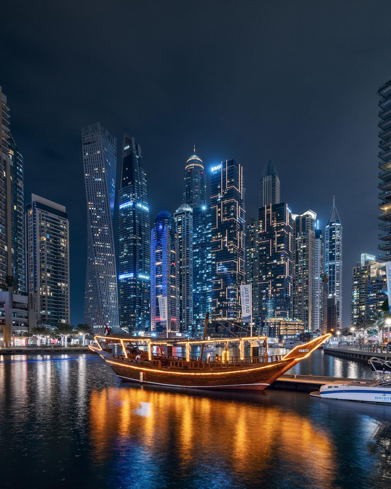 Dubai Marina Boot VAE - Stefan Schäfer Landschaftsfotograf