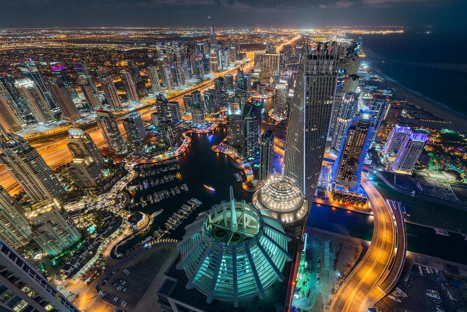 Dubai Marina von oben - Stefan Schäfer Landschaftsfotograf