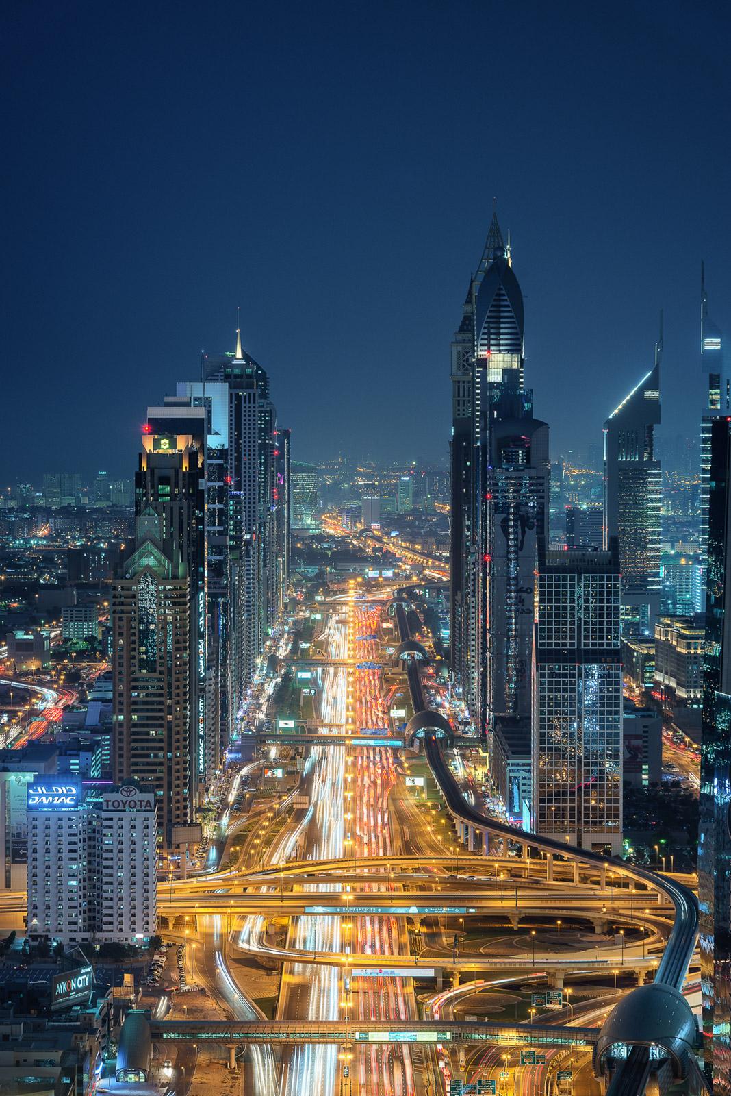 Sheikh Zayed Road in Dubai - Stefan Schäfer Landschaftsfotograf